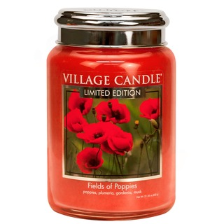 Village Candle Velká vonná svíčka ve skle Fields of poppies 645g