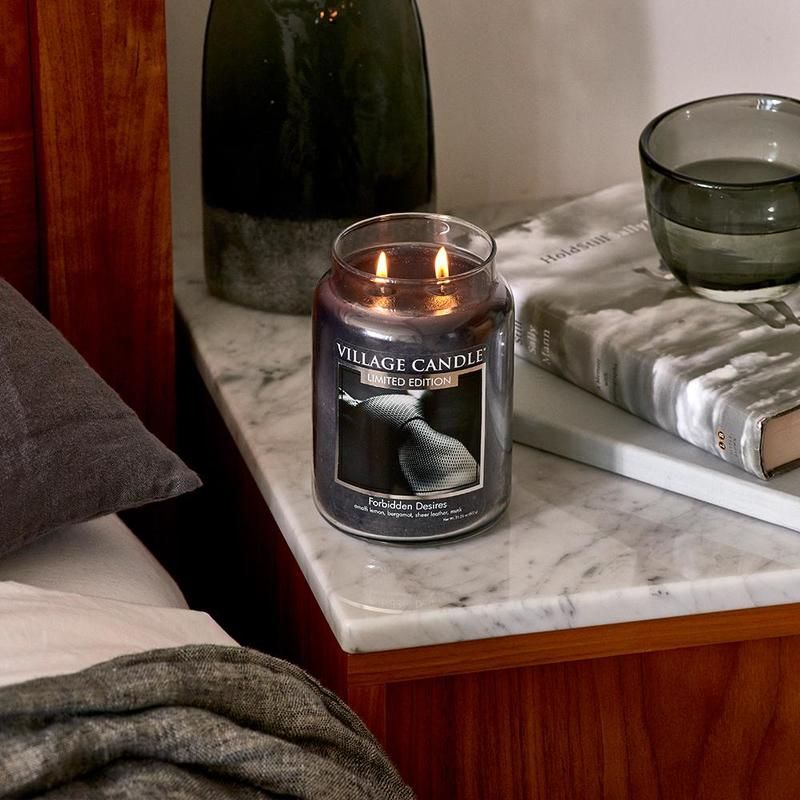 Village Candle Velká vonná svíčka ve skle Forbidden Desires 645g