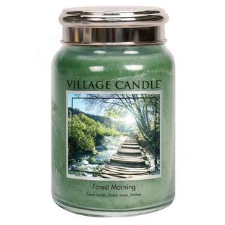 Village Candle Velká vonná svíčka ve skle Forest Morning 645g - Lesní probuzení