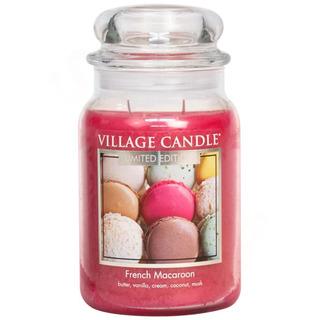 Village Candle Velká vonná svíčka ve skle French Macaroon 645g - Francouzské makronky