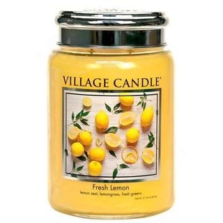 Village Candle Velká vonná svíčka ve skle Fresh Lemon 645g