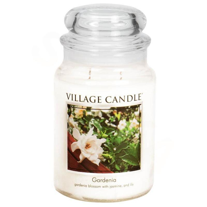 Village Candle Velká vonná svíčka ve skle Gardenia 645g - Gardénie