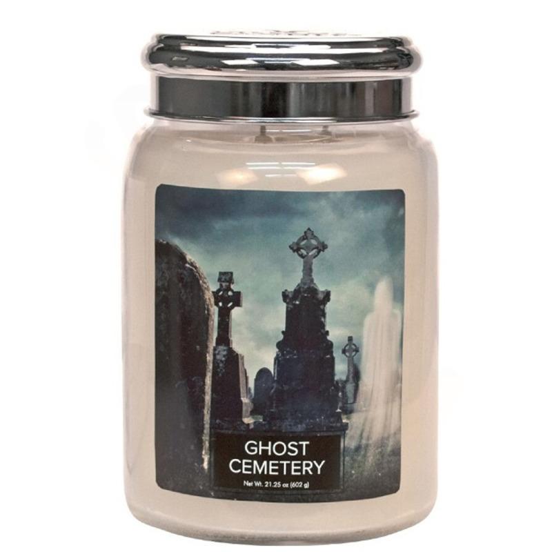 Village Candle Velká vonná svíčka ve skle Ghost Cemetery 645g - Hřbitov plný duchů
