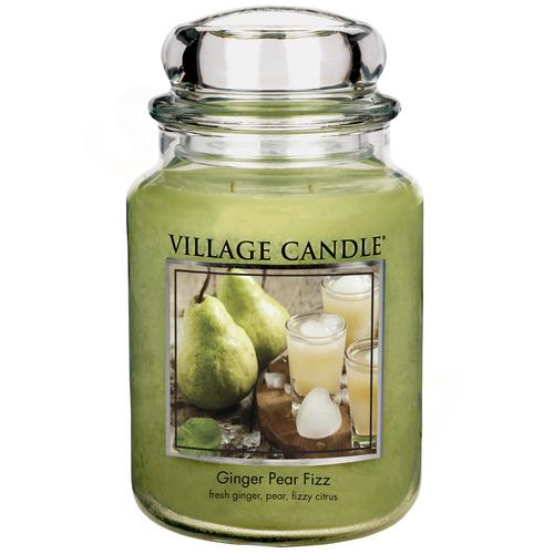 Village Candle Ginger Pear Fizz 645g - velká vonná svíčka ve skle Hruškový fizz se zázvorem