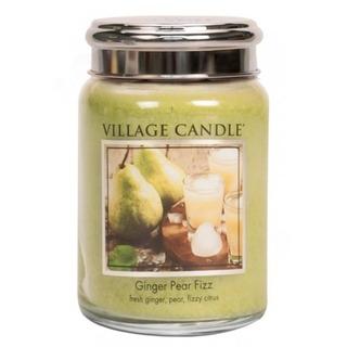 Village Candle Velká vonná svíčka ve skle Ginger Pear Fizz 645g - Hruškový fizz se zázvorem
