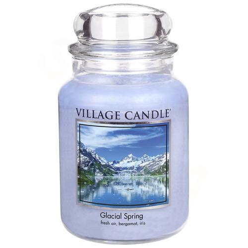 Village Candle Ledovcový vánek 645g - velká vonná svíčka ve skle Glacial Spring