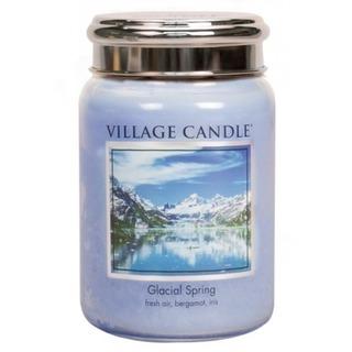 Village Candle Velká vonná svíčka ve skle Ledovcový vánek 645g - Glacial Spring