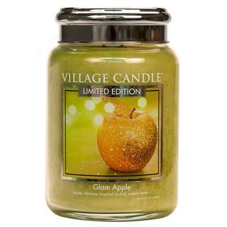 Village Candle Velká vonná svíčka ve skle Glam Apple 645g - Šťavnaté jablko