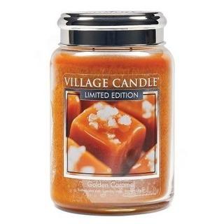 Village Candle Velká vonná svíčka ve skle Golden Caramel 645g - Zlatý karamel