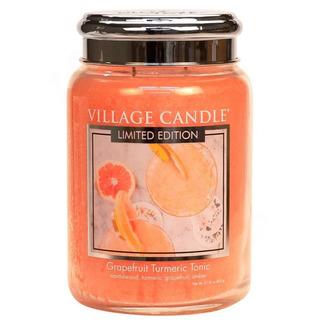 Village Candle Velká vonná svíčka ve skle Grapefruit Turmeric Tonic 645g - Osvěžující tonic