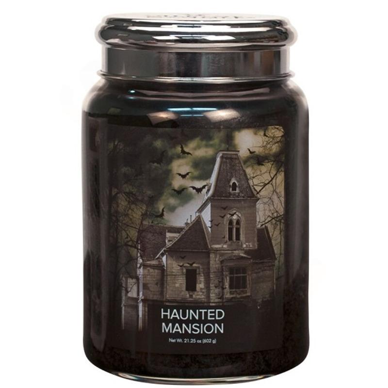 Village Candle Velká vonná svíčka ve skle Haunted Mansion 645g - Strašidelný dům