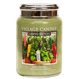 Village Candle Velká vonná svíčka ve skle Herb Garden 645g