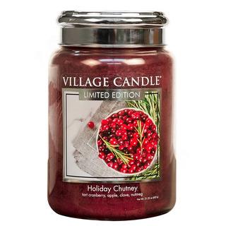 Village Candle Velká vonná svíčka ve skle Holiday Chutney 645g - Sváteční čatní
