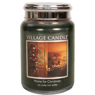 Village Candle Velká vonná svíčka ve skle Home for Christmas 645g - Kouzlo Vánoc
