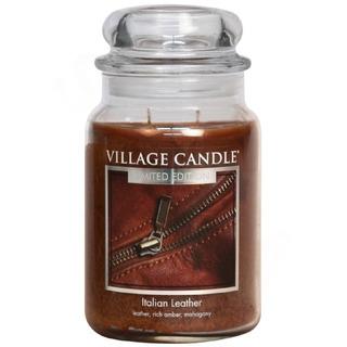 Village Candle Velká vonná svíčka ve skle Italian Leather 645g - Italská kůže