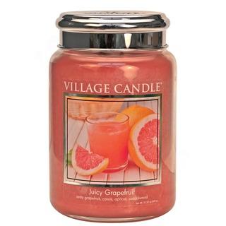 Village Candle Velká vonná svíčka ve skle Juicy Grapefruit 645g