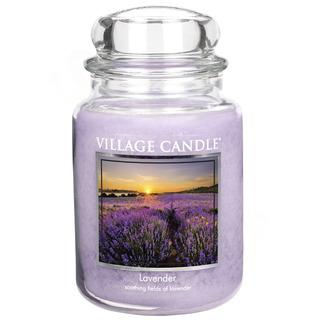 Village Candle Velká vonná svíčka ve skle Lavender 645g - Levandule