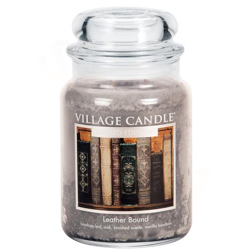 Village Candle Leather Bound 6457g - velká vonná svíčka ve skle Nádech minulosti