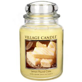Village Candle Velká vonná svíčka ve skle Lemon Pound Cake 645g - Citronový koláč