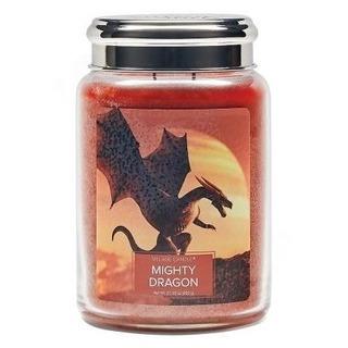 Village Candle Velká vonná svíčka ve skle Mighty Dragon 645g - Mocný drak