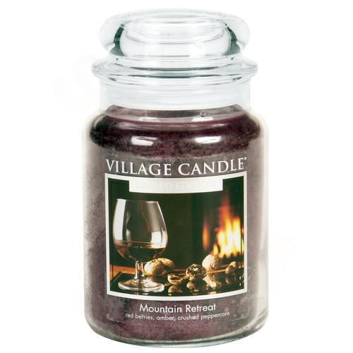 Village Candle Mountain Retreat 645g - velká vonná svíčka ve skle Víkend na horách
