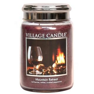 Village Candle Velká vonná svíčka ve skle Mountain Retreat 645g - Víkend na horách