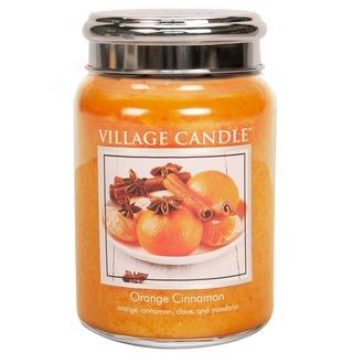 Village Candle Velká vonná svíčka ve skle Orange Cinnamon 645g - Pomeranč a skořice