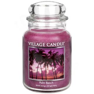 Village Candle Velká vonná svíčka ve skle Palm Beach 645g - Palmová pláž
