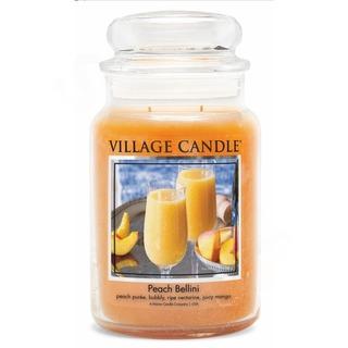Village Candle Velká vonná svíčka ve skle Peach Bellini 645g - Broskvové Bellini