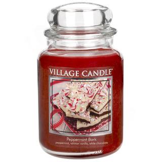Village Candle Velká vonná svíčka ve skle Peppermint Bark 645g - Mátové potěšení