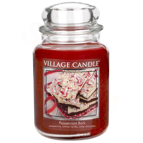 Village Candle Peppermint Bark 645g - velká vonná svíčka ve skle Mátové potěšení