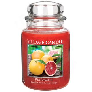 Village Candle Velká vonná svíčka ve skle Pink Grapefruit 645g - Růžový grapefruit