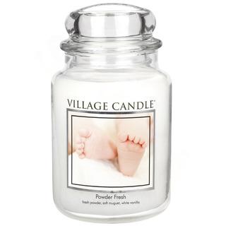 Village Candle Velká vonná svíčka ve skle Powder Fresh 645g - Pudrová svěžest