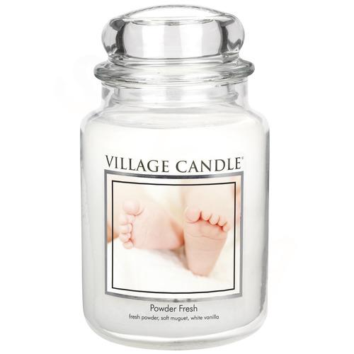 Village Candle Powder Fresh 645g - velká vonná svíčka ve skle Pudrová svěžest