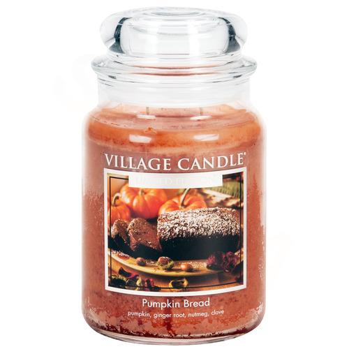 Village Candle Pumpkin Bread 397g - střední vonná svíčka ve skle Dýňový chléb