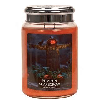 Village Candle Velká vonná svíčka ve skle Pumpkin Scarecrow 645g - Strašák na poli