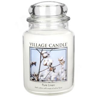 Village Candle Velká vonná svíčka ve skle Pure Linen 645g - Čisté prádlo