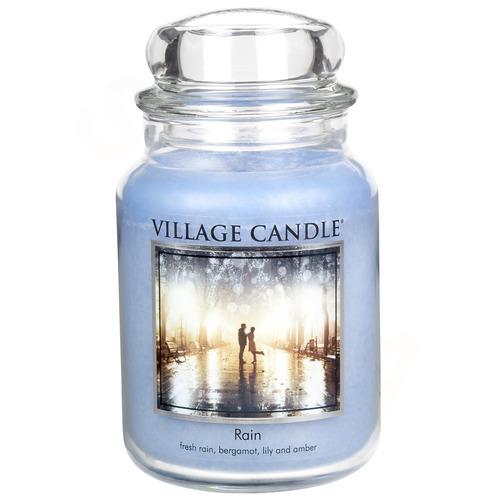 Village Candle Rain 645g - mala vonná svíčka ve skle Déšť
