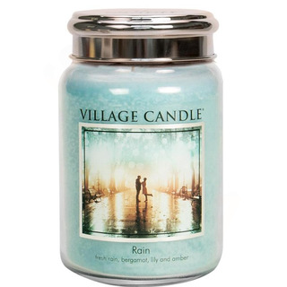 Village Candle Velká vonná svíčka ve skle Rain 645g - Déšť