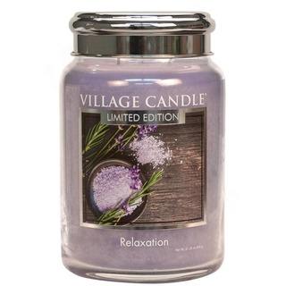 Village Candle Velká vonná svíčka ve skle Relaxation 645g