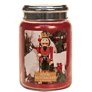 Village Candle Velká vonná svíčka ve skle Royal Nutcracker 645g - Královský louskáček