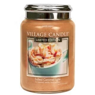 Village Candle Velká vonná svíčka ve skle Salted Caramel Latte 645g