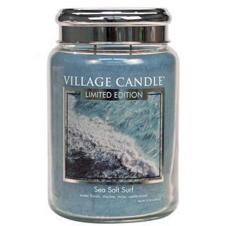 Village Candle Velká vonná svíčka ve skle Sea Salt Surf 645g - Mořský příboj