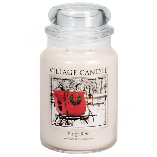 Velká vonná svíčka ve skle Sleigh Ride 645g - Zimní vyjížďka