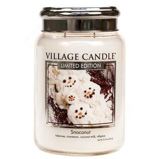 Village Candle Velká vonná svíčka ve skle Snoconut 645g - Kokosový sníh
