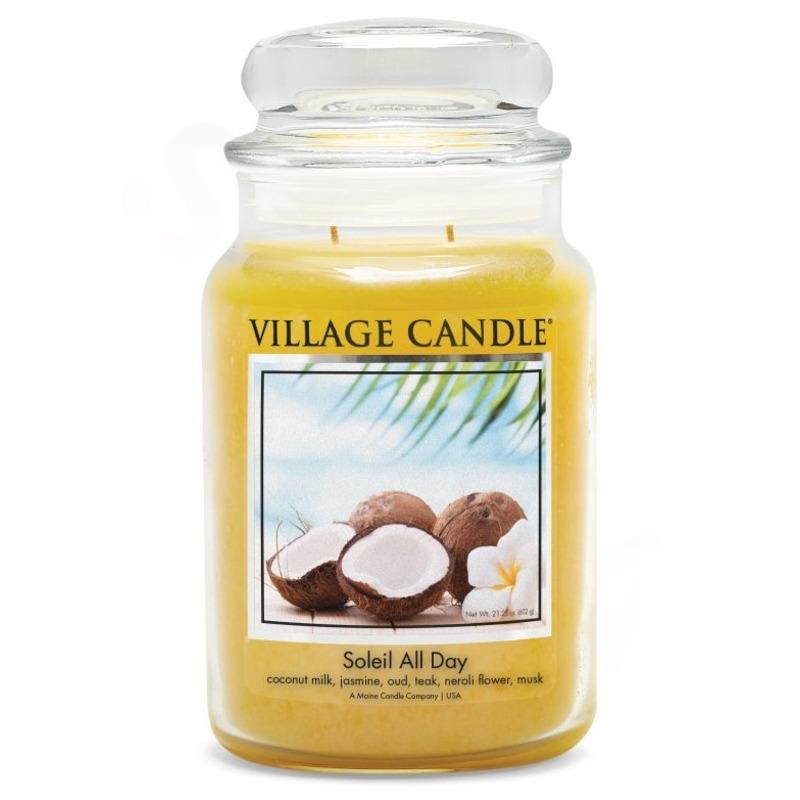 Village Candle Velká vonná svíčka ve skle Soleil All Day 645g - Den na pláži