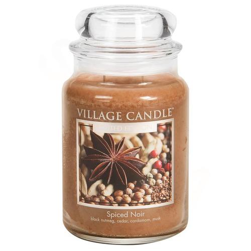 Village Candle Spiced Noir 645g - velká vonná svíčka ve skle Koření života
