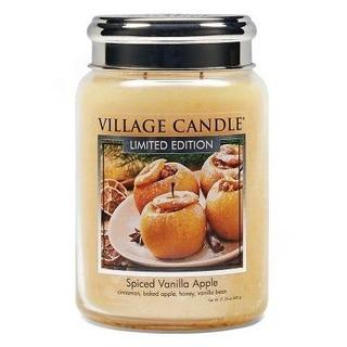 Village Candle Velká vonná svíčka ve skle Spiced Vanilla Apple 645g - Pečené vanilkové jablko