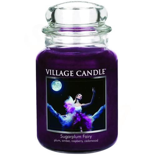 Village Candle Sugarplum Fairy 645g - velká vonná svíčka ve skle Půlnoční víla
