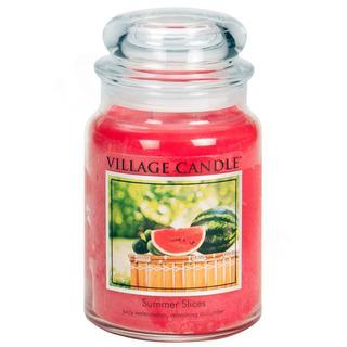 Village Candle Velká vonná svíčka ve skle Summer Slices 645g - Letní pohoda